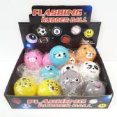 24 Units of FLASHING ANIMALS BOUNCE BALL - Balls