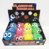 24 Units of FLASHING BIG EYES BOUNCE BALL - Balls