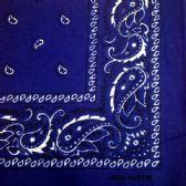 24 Units of ROYAL BLUE PAISLEY BANDANA - Bandanas