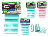 144 Units of Dog Waste Bags 4pc Refills Blu. - Pet Accessories
