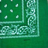 60 Units of KELLY GREEN PAISLEY BANDANA - Bandanas