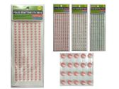 288 Units of 182pcs Pearl Gemstone Stickers - Stickers