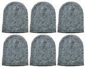 Yacht & Smith Kids Winter Beanie Hat Assorted Colors Bulk Pack Warm Acrylic Cap (6 Pack Gray) - Winter Hats