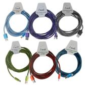 24 Units of Wholesale 10ft High Speed Charging Cable Cord for Android in 6 Assorted Colors - Chargers & Adapters