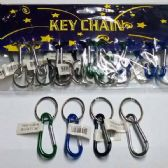 48 Units of CARABINER KEYCHAIN ASSORTED COLORS - Key Chains