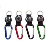 48 Units of KEYCHAIN CARABINER WITH COMPASS - Key Chains