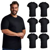 SOCKS'NBULK Mens Cotton Crew Neck Short Sleeve T-Shirts Mix Colors Bulk Pack Value Deal (6 Pack Black, XXX-Large) - Mens T-Shirts