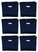 6 Units of SOCKS'NBULK Mens Cotton Crew Neck Short Sleeve T-Shirts Mix Colors Bulk Pack Value Deal (6 Pack Navy, Large) - Mens T-Shirts