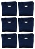 6 Units of SOCKS'NBULK Mens Cotton Crew Neck Short Sleeve T-Shirts Mix Colors Bulk Pack Value Deal (6 Pack Navy, Small) - Mens T-Shirts