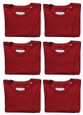 6 Units of SOCKS'NBULK Mens Cotton Crew Neck Short Sleeve T-Shirts Mix Colors Bulk Pack Value Deal (6 Pack Red, Large) - Mens T-Shirts