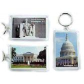 48 Units of WASHINGTON DC LUCITE KEYCHAIN - Key Chains