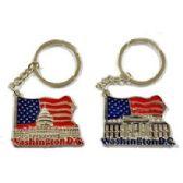 48 Units of WASHINGTON DC FLAG METAL KEYCHAIN - Key Chains