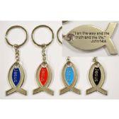 48 Units of METAL FISH JESUS KEYCHAIN - Key Chains