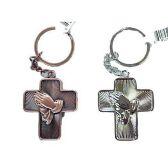 48 Units of PRAYING HANDS CROSS KEYCHAIN - Key Chains