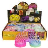 48 Units of RAINBOW MAGIC SPRING SLINKY - Light Up Toys