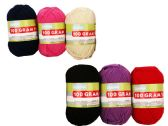 96 Units of 100g Yarn In 6 Assorted Colors - Sewing Supplies