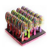 24 Units of Hair Brush Display Assorted Colors - Hair Brushes & Combs