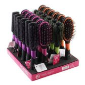 24 Units of Assorted Mixed Hair Brush In Display Assorted Colors - Hair Brushes & Combs