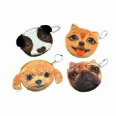 48 Units of ASSORTED DOG FACE COIN PURSE - Coin Holders & Banks