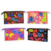 48 Units of HEARTS COSMETIC BAG - Cosmetic Cases