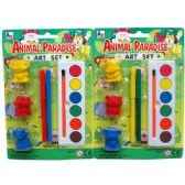 48 Units of ANIMAL ART PLAY SET - Paint, Brushes & Finger Paint