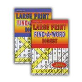 48 Units of Large Print Find-A-Word Puzzles Book Digest Size - Coloring & Activity Books
