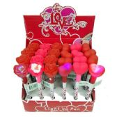 48 Units of ROSE AND HEART LIGHT UP PENS - Valentine Decorations