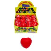 48 Units of RED HEART STRESS FOAM BALL - Valentine Decorations