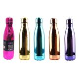 24 Units of Stainless Steel Double Walled Chrome Edition Water Bottle Cup - Drinking Water Bottle