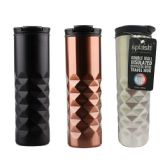 24 Units of Double Wall Insulated Stainless Steel Travel Mug - Drinking Water Bottle