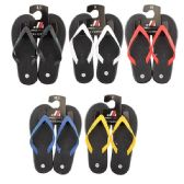 50 Units of Men's Rubber Thong Colored Strap Flip Flop - Men's Flip Flops