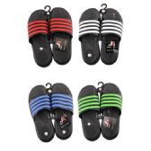 50 Units of Men's Striped Summer Slide Sandal - Men's Slippers
