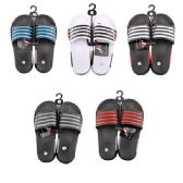 50 Units of Men's Striped Summer Slide Sandal - Men's Flip Flops