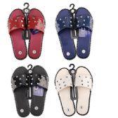 36 Units of Women's Studded Summer Sandals Slip On Slides - Women's Flip Flops
