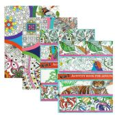 48 Units of 4-In-1 Activity Books for Adults - Coloring & Activity Books