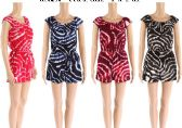 48 Units of Womens Printed Summer Romper Assorted Color - Womens Sundresses & Fashion