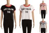 48 Units of Womens Tee Dont Follow The Print Assorted Colors - Womens Camisoles & Tank Tops