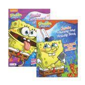 72 Units of SPONGEBOB Jumbo Coloring & Activity Book - Coloring & Activity Books
