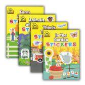 48 Units of SCHOOL ZONE Sticker Books - Coloring & Activity Books