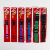 96 Units of Dog Collar Assorted Solid Colors - Pet Collars and Leashes