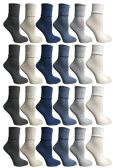 60 Units of SOCKS'NBULK Womens Crew Socks, Bulk Pack Assorted Chic Bobby Socks, Multicolored - Womens Crew Sock