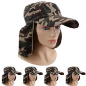 24 Units of Adults Baseball Cap With Flapper Camouflage - Baseball Caps & Snap Backs