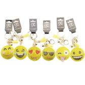 48 Units of Assorted Emoji Face Bling Key chain - Key Chains