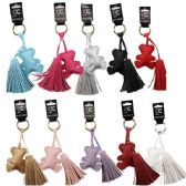 48 Units of Pleather Tassel Charm Key Chain - Key Chains