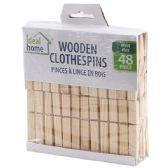 48 Units of 48 Piece Wooden Clothes Pins - Clothes Pins