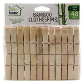 48 Units of 48 Piece Bamboo Clothes Pins - Clothes Pins