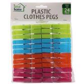 48 Units of 24 Piece Plastic Clothes Pins - Clothes Pins
