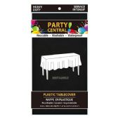 24 Units of Rectangle Black Plastic Table cover - Table Cloth