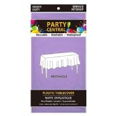 24 Units of Rectangle Lavender Plastic Table cover - Table Cloth