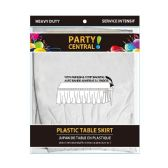 24 Units of Rectangle White Plastic Table Skirt - Table Cloth